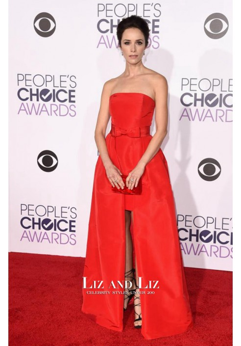 Abigail Spencer Red High Low Dress People's Choice Awards 2016