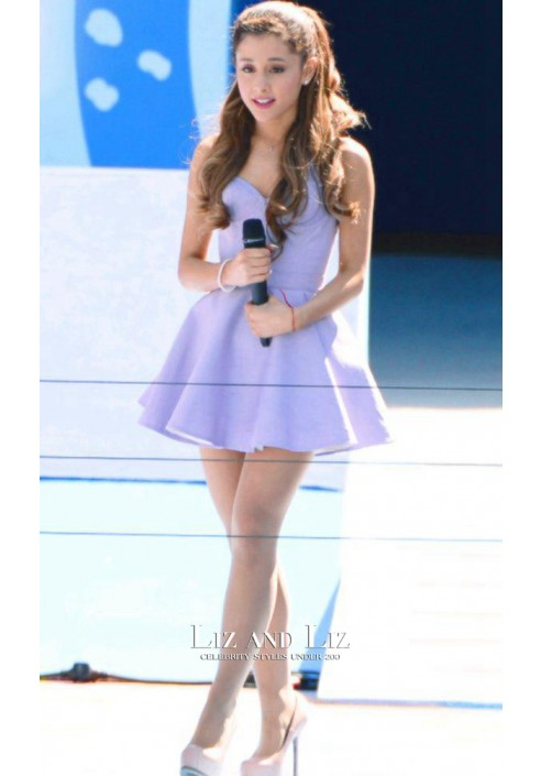 Ariana Grande Short Lavender Cocktail Homecoming Party Celebrity Cocktail Dress