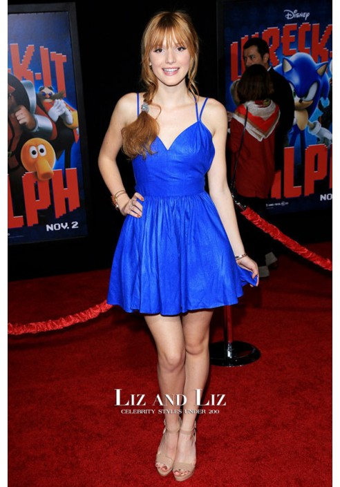 Bella Thorne Blue Cocktail Party Homecoming Graduation Celebrity Dress