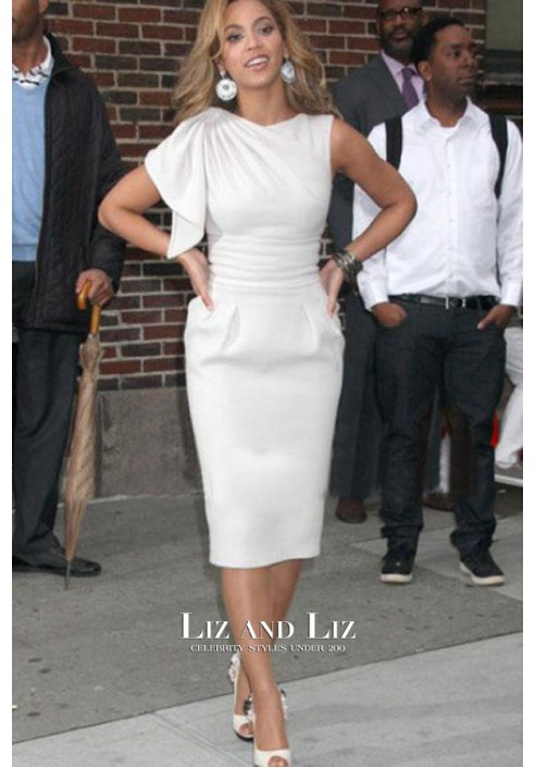 Beyonce Short White Cocktail Party Dress Late Show With David Letterman