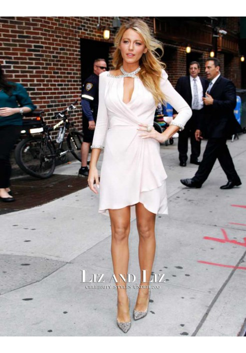 Blake Lively Late Show with David Letterman Cocktail Party Celebrity Dress