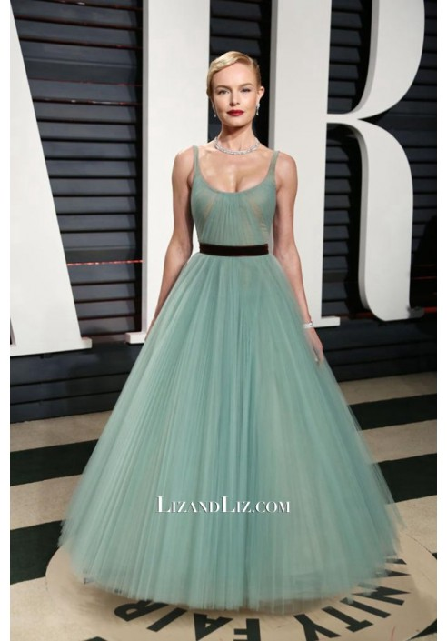 Kate Bosworth Sage Tulle Ball Gown Prom Dress Vanity Fair Oscar Party 2017