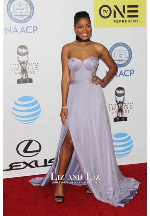 Keke Palmer Lavender Dress NAACP Image Awards 2016 Red Carpet