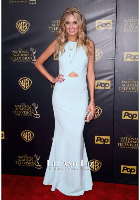 Melissa Ordway Blue Red Carpet Prom Dress 2015 Daytime Emmy Awards