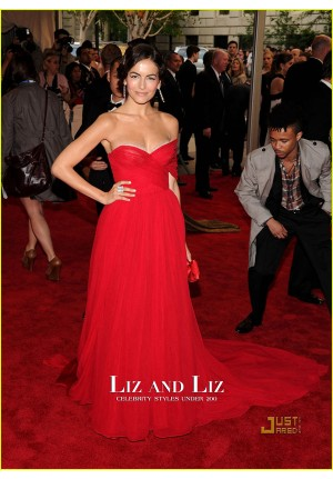 Camilla Belle Red Chiffon Celebrity Prom Dresses Met Gala 2010 Red Carpet