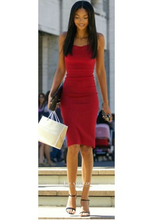 Chanel Iman Short Red Cocktail Party Homecoming Celebrity Dresses