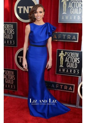 Giuliana Rancic Royal Blue Mermaid Red Carpet Dress SAG Awards 2013