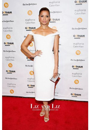 Gugu Mbatha-Raw Short White Dress 2014 Gotham Independent Film Awards