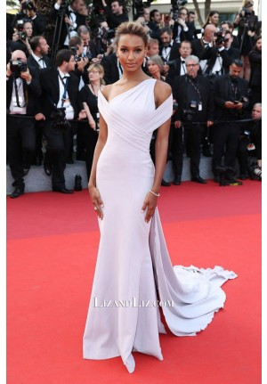 Jasmine Tookes Lilac Celebrity Prom Dress  'The Beguiled' Premiere Cannes 2017