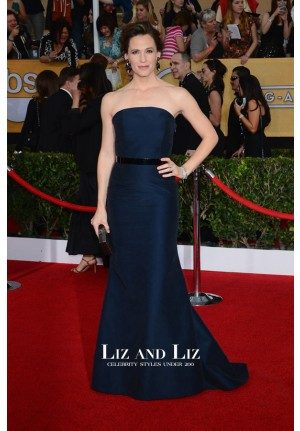 Jennifer Garner Navy Strapless Prom Dress SAG Awards 2014 Red Carpet