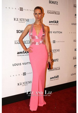 Karolina Kurkova Pink Halter Mermaid Celebrity Dress amfAR Gala Sao Paulo