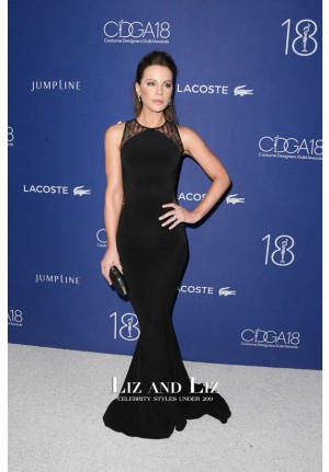 Kate Beckinsale Black Dress Costume Designers Guild Awards 2016