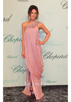 Kate Beckinsale Pink One-shoulder Dress Chopard 150th Anniversary Party