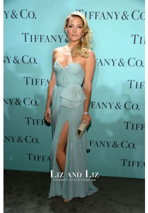 Kate Hudson Blue Chiffon Prom Celebrity Dress Tiffany & Co. Blue Book Ball