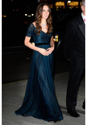 Kate Middleton Navy Blue Dress 100 Women in Hedge Funds Gala Dinner