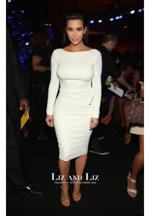 Kim Kardashian Short White Zipper Cocktail Party Dress Bet Awards 2012