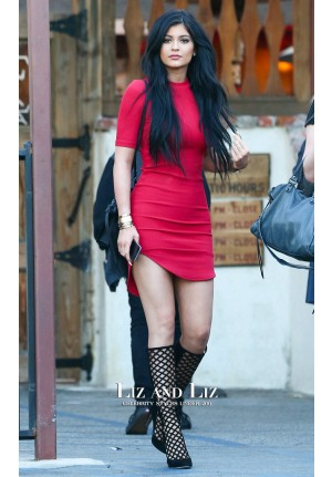 Kylie Jenner Inspired Short Red Mini Cocktail Party Celebrity Day Dress