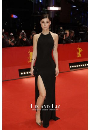 Lena Meyer-Landrut Black Halter Backless Dress Berlinale Film Festival
