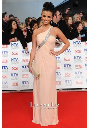 Lucy Mecklenburgh Pink One-shoulder Dress National Television Awards 2012