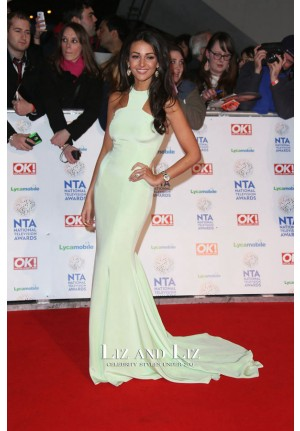 Michelle Keegan Mint Green Prom Dress National Television Awards 2014