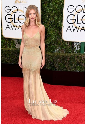 Rosie Huntington-Whiteley Golden Globes 2016 Red Carpet Dress