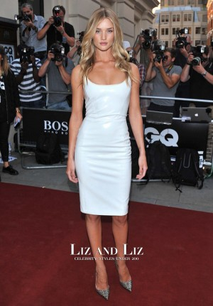 Rosie Huntington-Whiteley White Cocktail Party Dress GQ Men of the Year