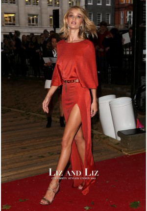 Rosie Huntington-Whiteley Red Dress Glamour Woman of the Year 2015