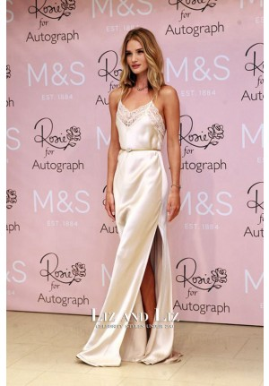 Rosie Huntington-Whiteley Ivory Slip Dress 'Rosie for Autograph' London