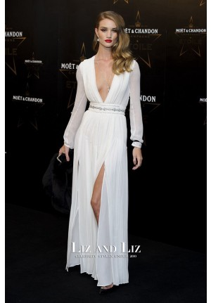 Rosie Huntington-Whiteley White Dress Moet & Chandon Etoile Awards
