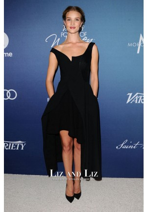 Rosie Huntington-Whiteley Black Dress Variety's Power Of Women Luncheon
