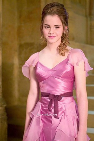 Hermione Granger Pink Prom Celebrity Dress Yule Ball in Movie Harry Potter