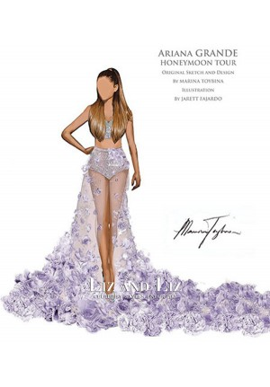 Ariana Grande Lavender Two-piece Celebrity Prom Dress Honeymoon Tour