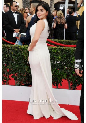 Ariel Winter White Evening Prom Gown SAG Awards 2015 Red Carpet Dress