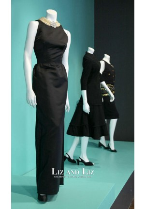 Audrey Hepburn Black Evening Prom Celebrity Dress Breakfast At Tiffany's