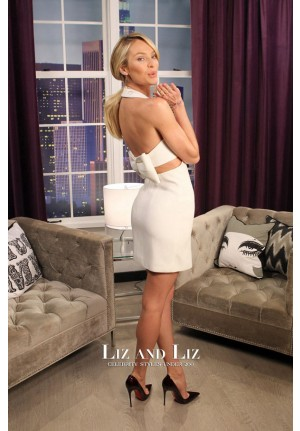 Candice Swanepoel Short White Dress The Lowdown with Diana Madison
