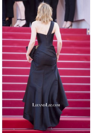 Cate Blanchett Black One-shoulder Satin Celebrity Dress Cannes 2018