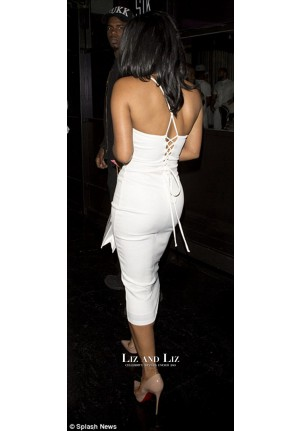 Christina Milian Inspired Sexy Short White V-neck Cocktail Party Celebrity Dress