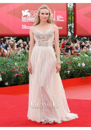 Diane Kruger Nude Red Carpet Prom Dresses 68th Venice Film Festival