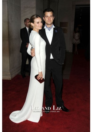Diane Kruger White Long-sleeve Prom Dress Met Gala 2010 Red Carpet