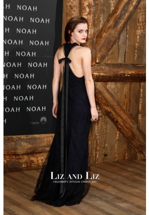 Emma Watson Navy and Black Celebrity Prom Dress 'Noah' Berlin Premiere