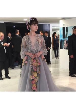 Fan Bingbing Floral Red Carpet Prom Dress Cannes Film Festival 2015