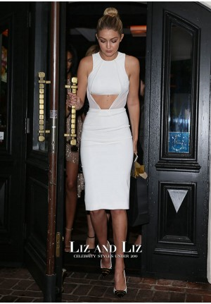 Gigi Hadid Short White Cocktail Party Celebrity Dress W Magazine Party