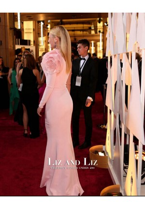 Gwyneth Paltrow Pink One-sleeve Prom Oscars 2015 Red Carpet Dress