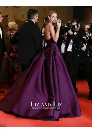 Heidi Klum Purple Strapless Ball Gown Celebrity Dress Bambi Awards 2015