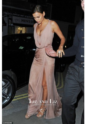 Irina Shayk Pink Chiffon Evening Prom Celebrity Dresses 'The Elephant Man'