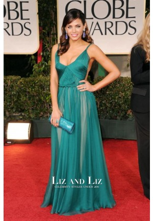 Jenna Dewan Green Chiffon Prom Dress Golden Globes 2012 Red Carpet