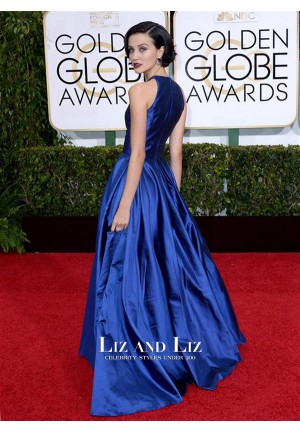 Julia Goldani Telles Royal Blue Red Carpet Prom Dresses Golden Globes 2015