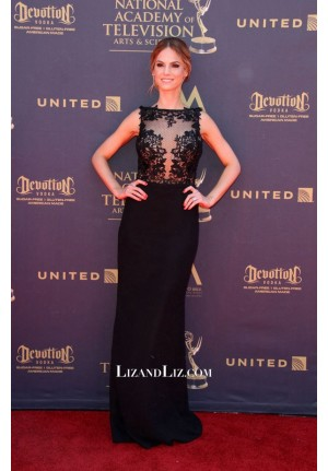 Kelly Kruger Black Lace Formal Celebrity Dress Daytime Emmy Awards