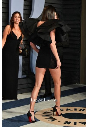 Kendall Jenner Short Black Celebrity Dress Vanity Fair Oscar Party 2018