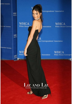 Kendall Jenner Black Strapless Celebrity Dress White House Correspondents Dinner